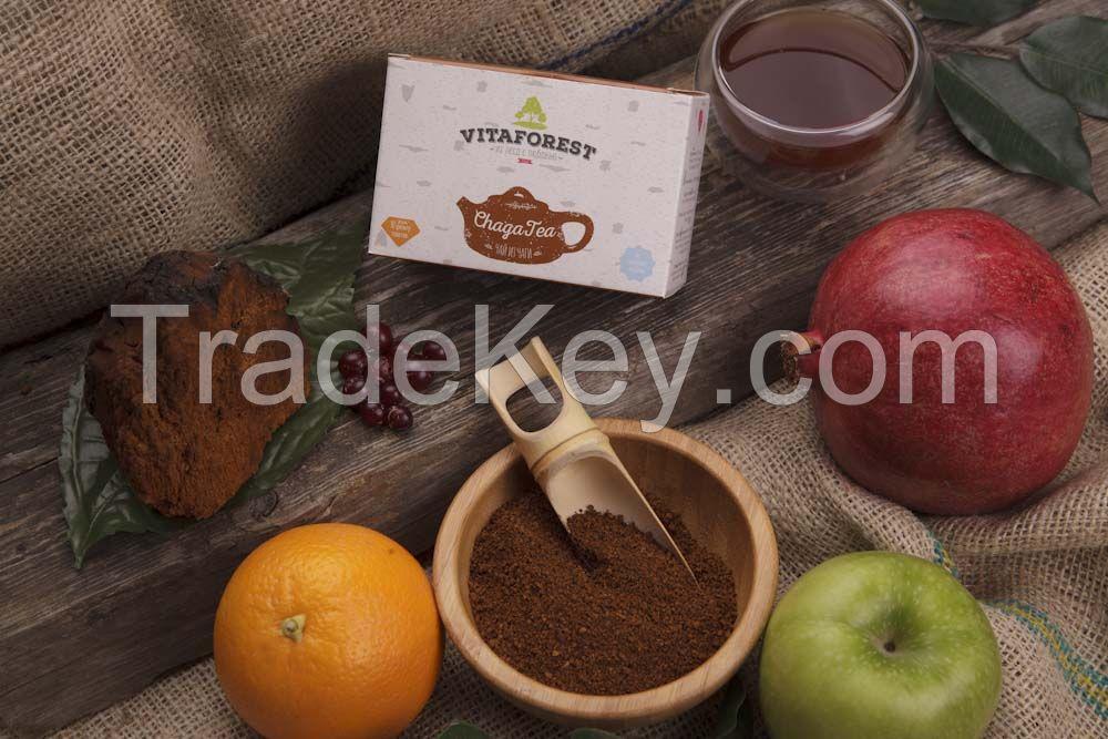 extract and tea chaga birch mushroom VITAFOREST