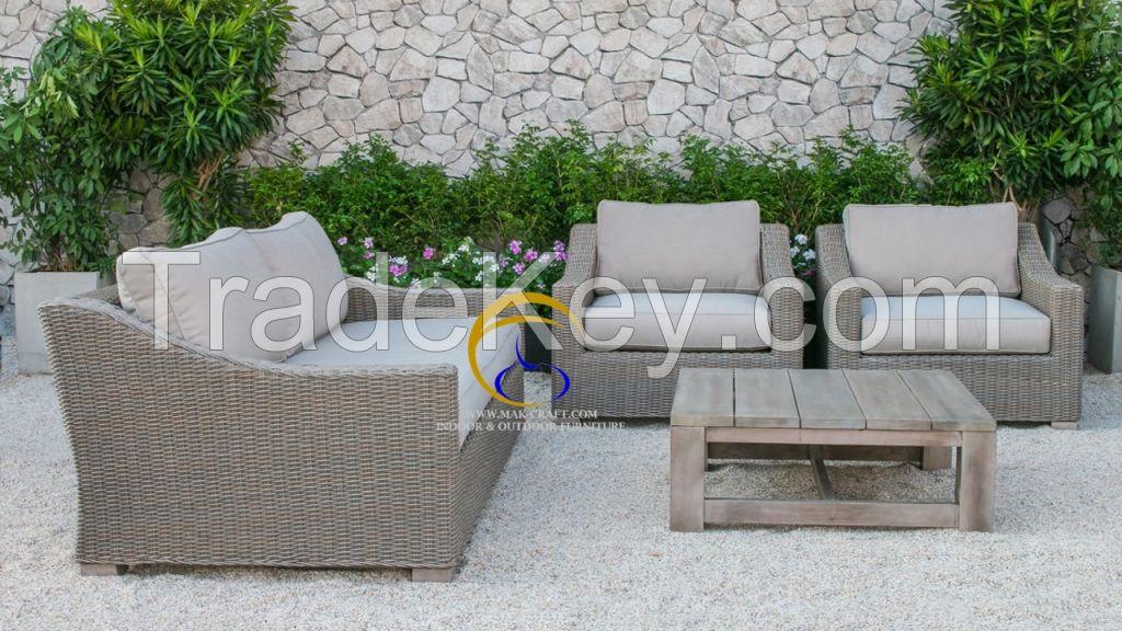 New Modern Patio Resin Wicker Rattan Furniture Sofa Set Outdoor Garden Sofa Set Furniture By Mk Furniture Exim Co Ltd Vietnam