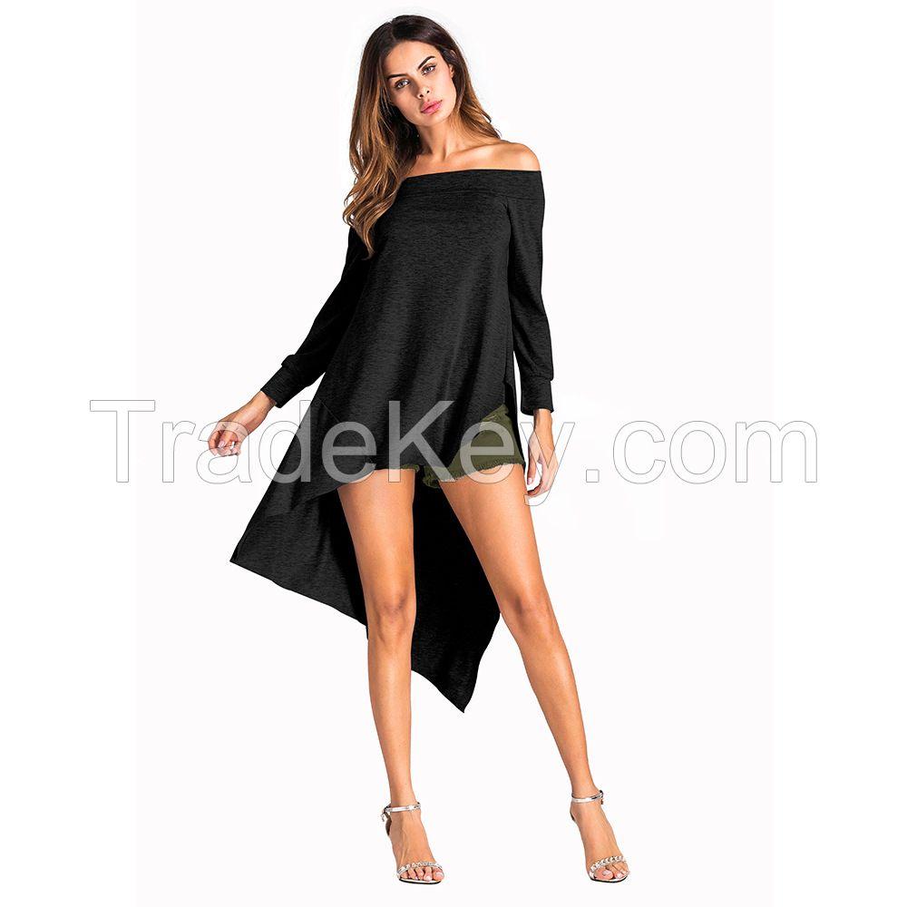 ladies latest fashion long sleeve  design