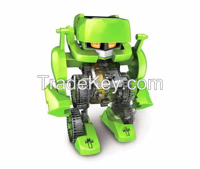 4 in 1 DIY Solar Educational Robot Toys Dinosaur Insect Creative Changeable Science Toys for Children