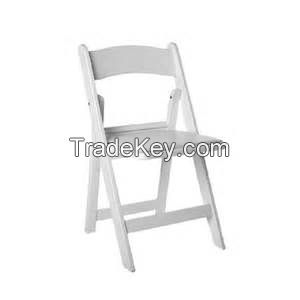 Commercial White Resin Plastic Folding Stackable Chairs Made in China