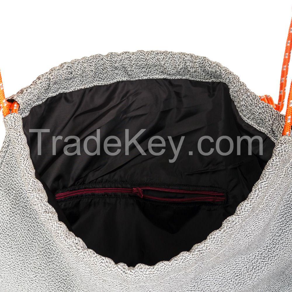 Cut resistant bag. Level 5. Tourist travel cut resistant bag. Ultra-high level cut resistant UHMWPE woven fabric