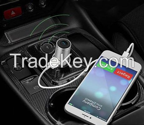 Newest released metal car charger with wireless headset