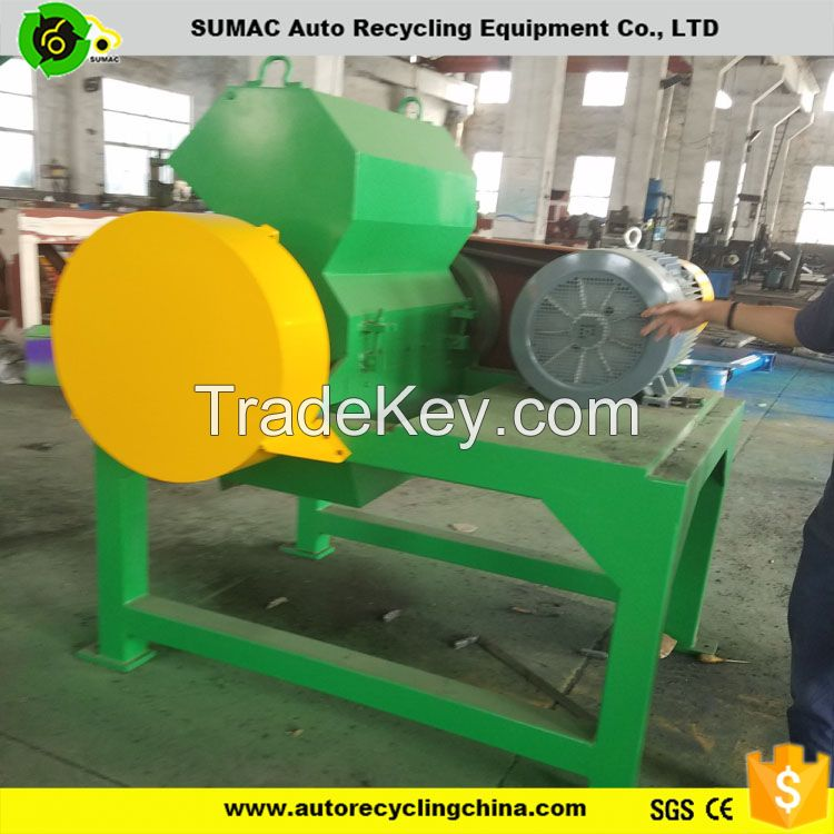 Rubber crusher machine of used tyre recycling equipments for sale
