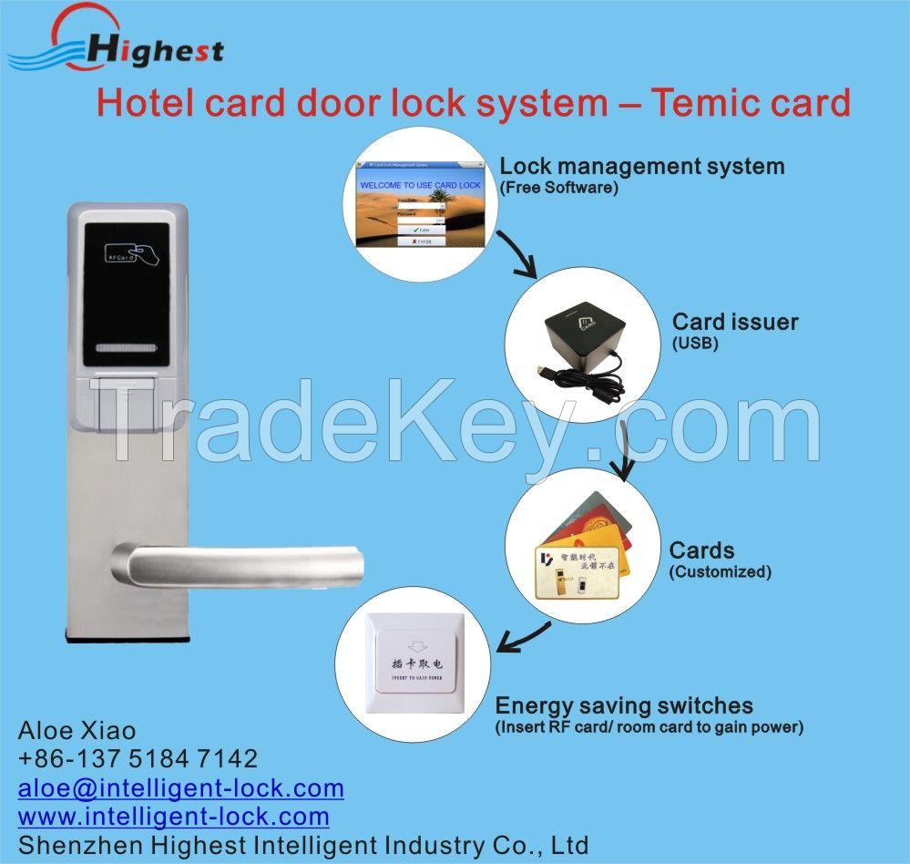 Temic Electronics Dubai Style Hotel Door Lock Key Cards