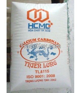 Calcium carbonate powder coated