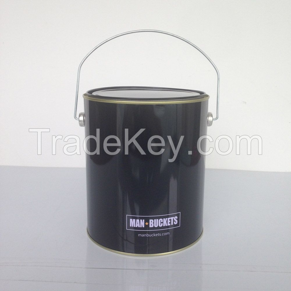 1 gallon round tin can