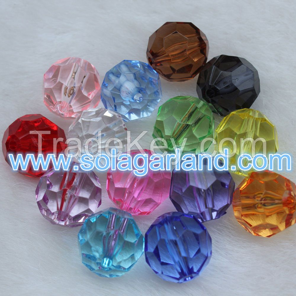Wholesale 32 Faceted Rondelle Acrylic Crystal Beads Loose Spacer Charm