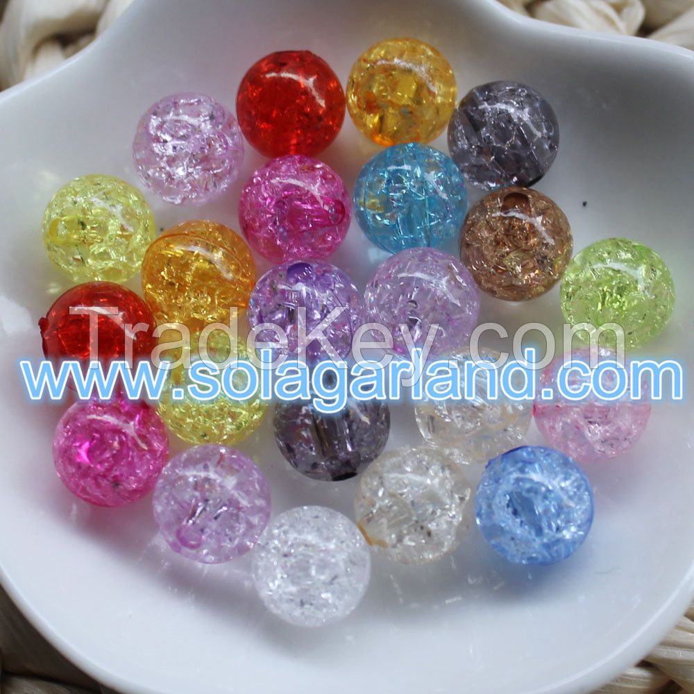 Wholesale Stunning DIY Decoration Acrylic Crystal Round Crack Beads