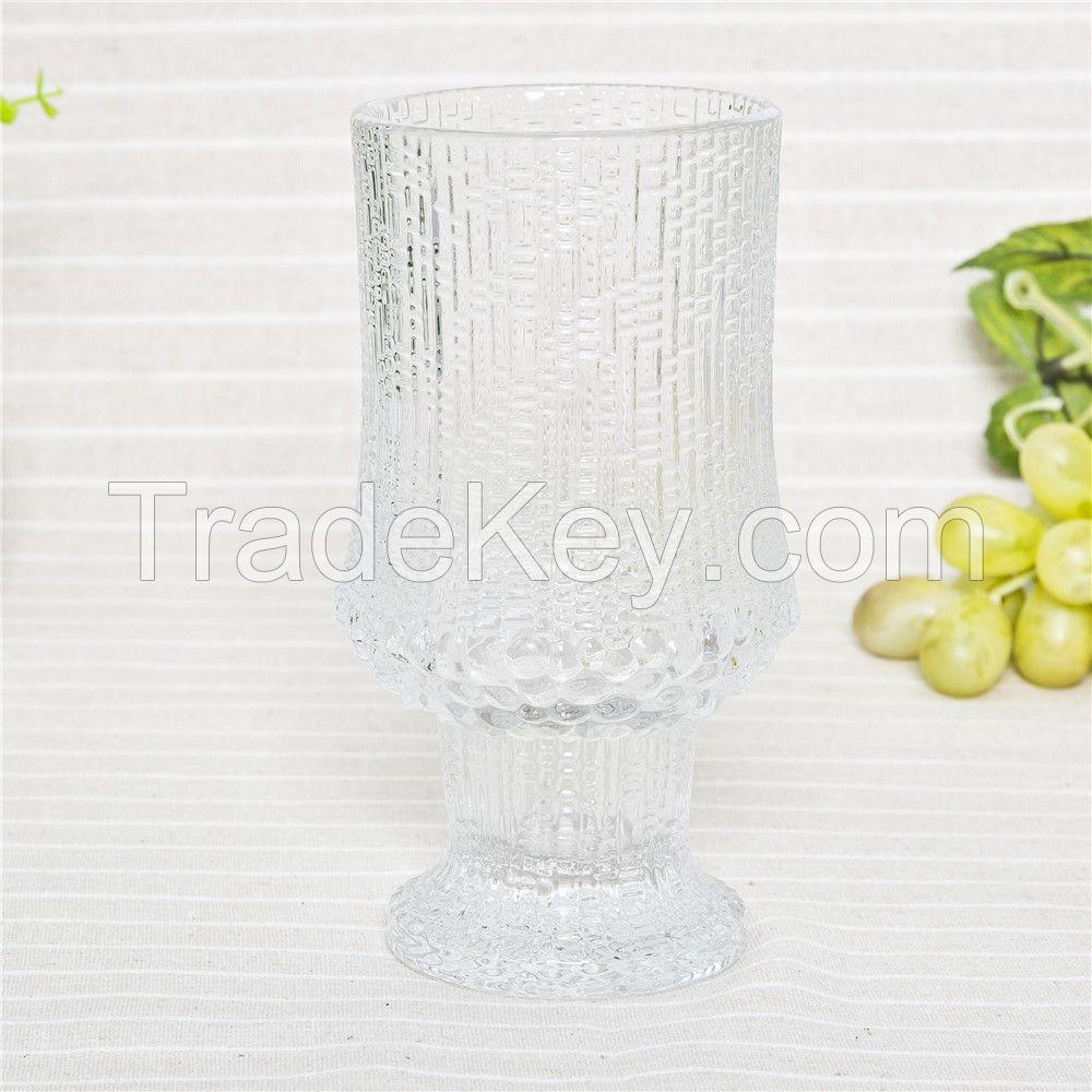 Best selling wholesale glass candle jars stemmed candle holder for home lighting decor