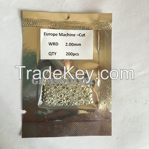 Gemscolor 5A White Round 0.9-2.2mm CZ gems
