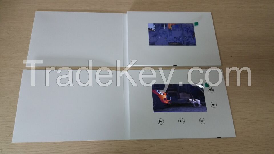 Luxary 7 Inch LCD Video Brochure Business Greeting Card With Lcd Screen