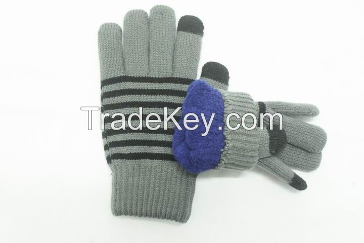 winter jacuqard knitted gloves