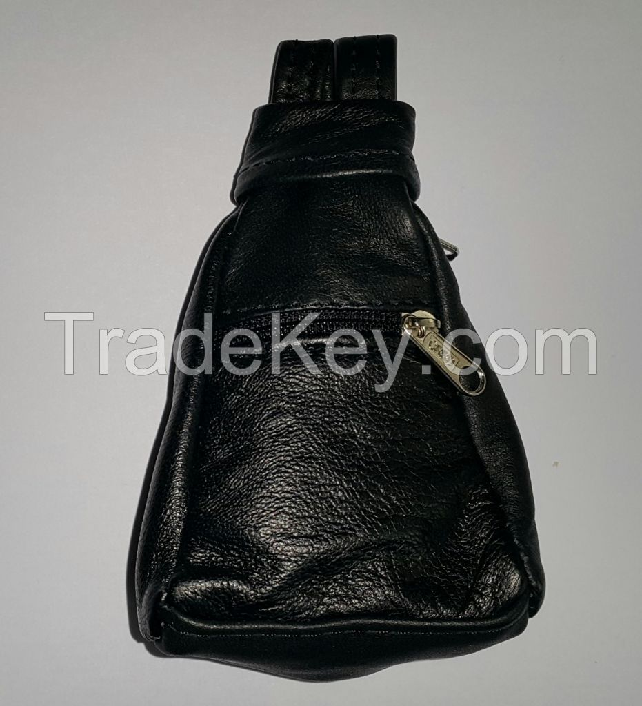 Genuine Leather Coin Purse - Exclusive Design - Backback shaped
