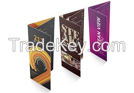 Tri-fold Bi-fold Coated Card Paper Offset Paper Brochure Leaflet Booklet