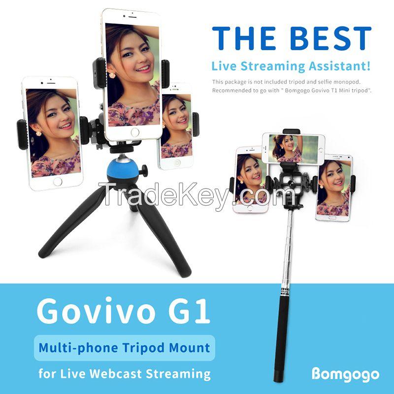 Govivo G1 Multi-phone Tripod Mount for Live Webcast Streaming