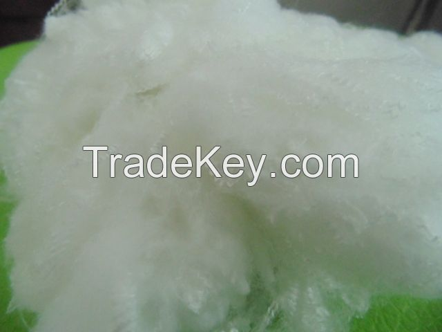 recycled polyester staple fiber for filling materials
