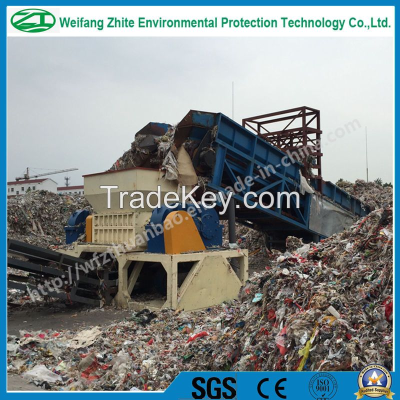 Double shaft shredder for plastic/wood/tire/foam/kitchen waste/animal