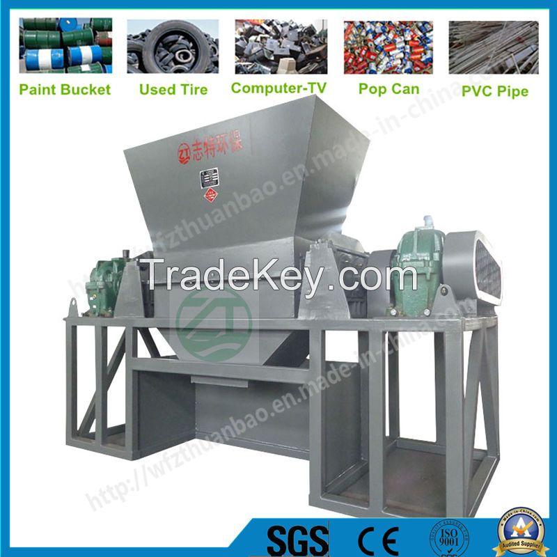 shredder crusher for plastic/tire/wood/foam/kitchen waste/animal bone/municipal waste/living garbage/scrap metal