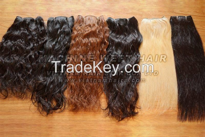 MACHINE WEFT HUMAN HAIR NATURAL COLOR, BLONDE, ... WHOLESALE PRICE
