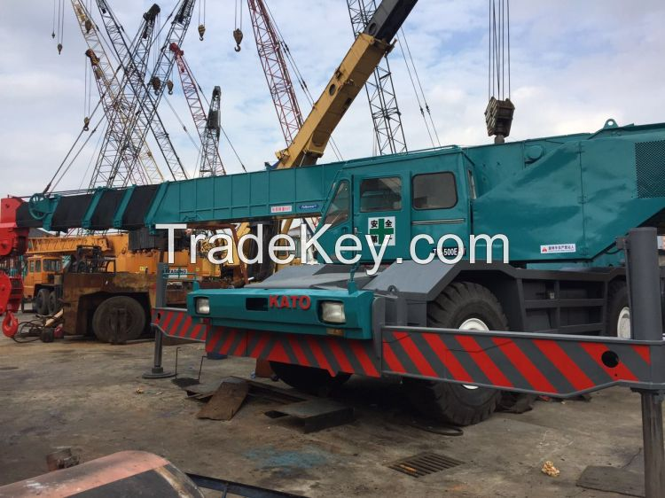 PERFECT CONDITION KATO 50T Rough Terrain Crane TR500E Used