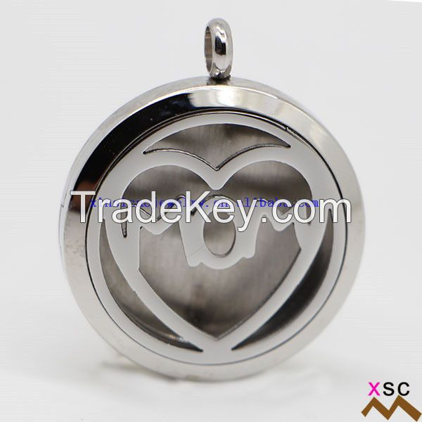 Stainless Steel Aromatherapy Locket Necklace