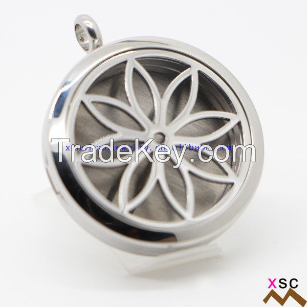 Stainless Steel flower Design Diffuser Necklace Wholesale