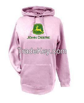 John Deere Pink Glitter Logo Hooded Sweatshirt