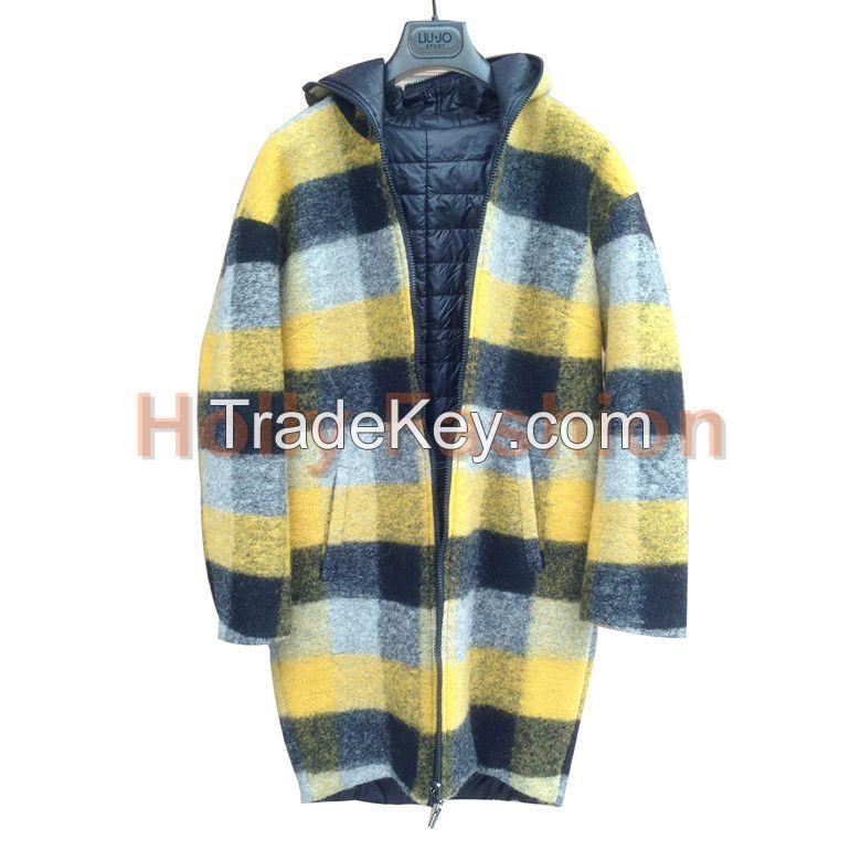 Women's woolen Plaids coat