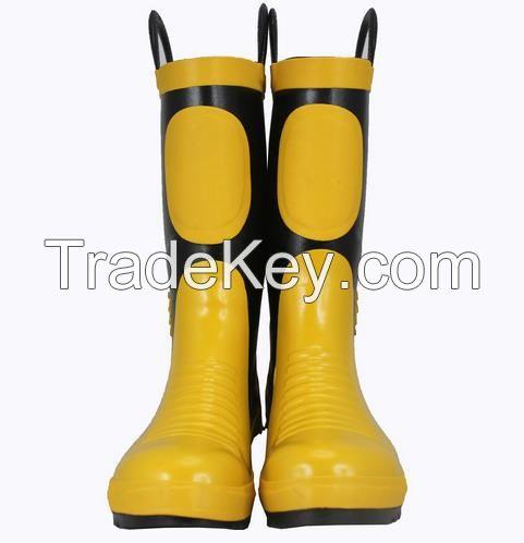 2016 men rubber rain boots safety boots handmade