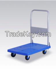Platform Type Folding Trolley, Hand Truck, Hand Cart, PU Caster