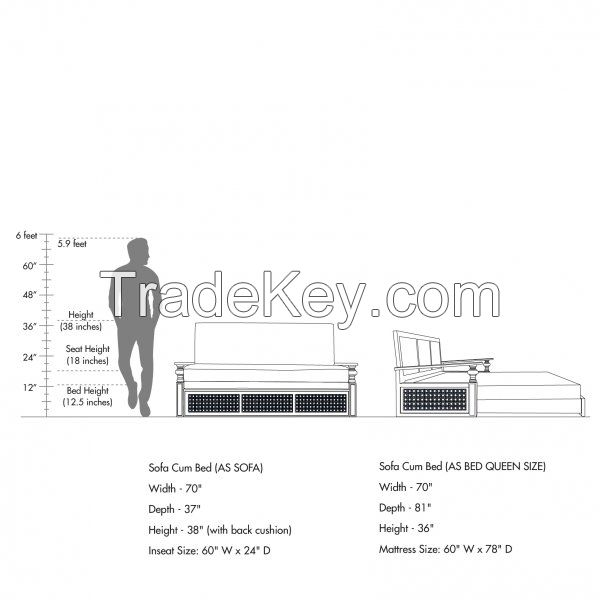 Premium Bedroom COCHIN SOFA CUM BED