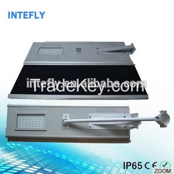 Hot selling all in one solar street light with mobile APP via bluetooth from Intefly shenzhen China