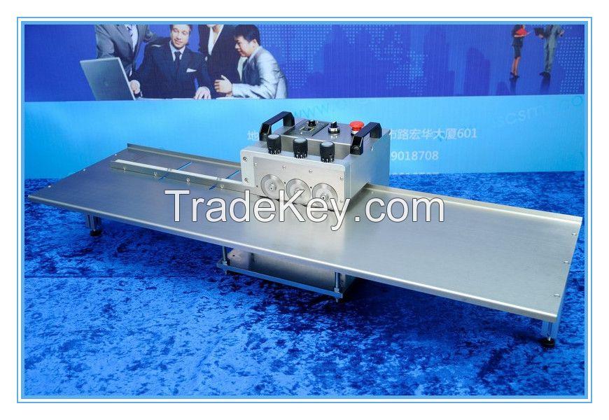 V-groove aluminum pcb board cutting machine, aluminum led pcb cutter