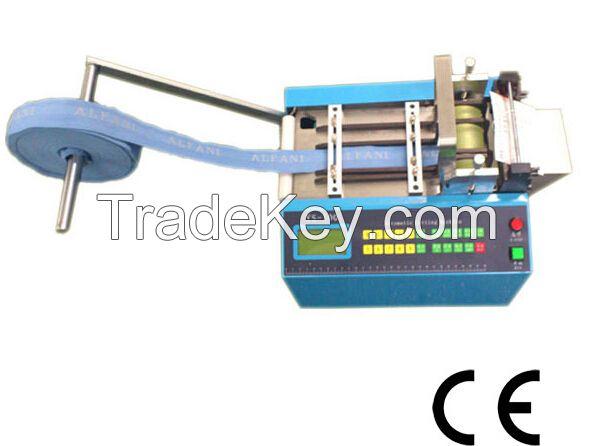 Automatic Webbing Tape/Velcro/Elastic/Ribbon Cutting Machine