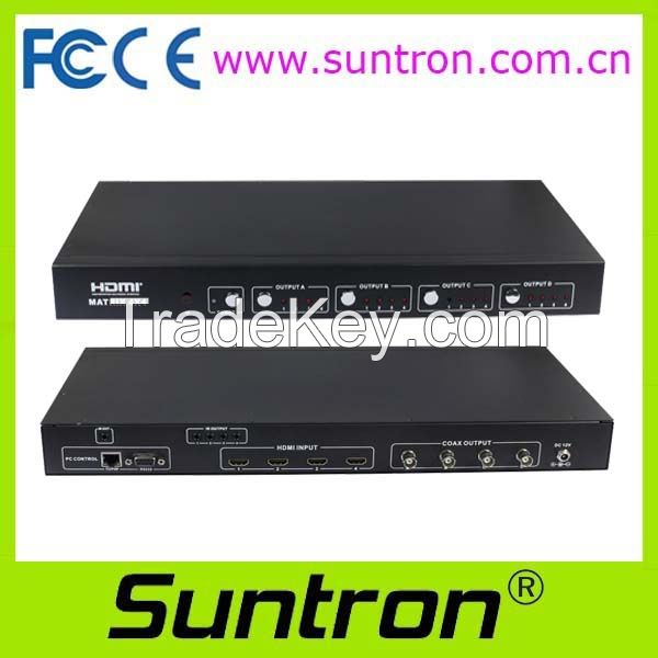 HD44C100 HDMI Switcher (with SDI coaxial extension output)