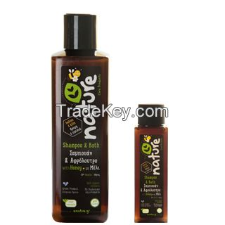 Natural Shampoo + Shower Gel (2in1) with Honey organic extracts (Nature Care Products from Greece)