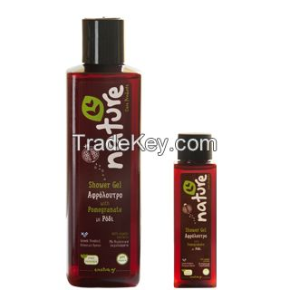 Natural Shower Gel with pomegranate organic extracts (Nature Care Products from Greece)