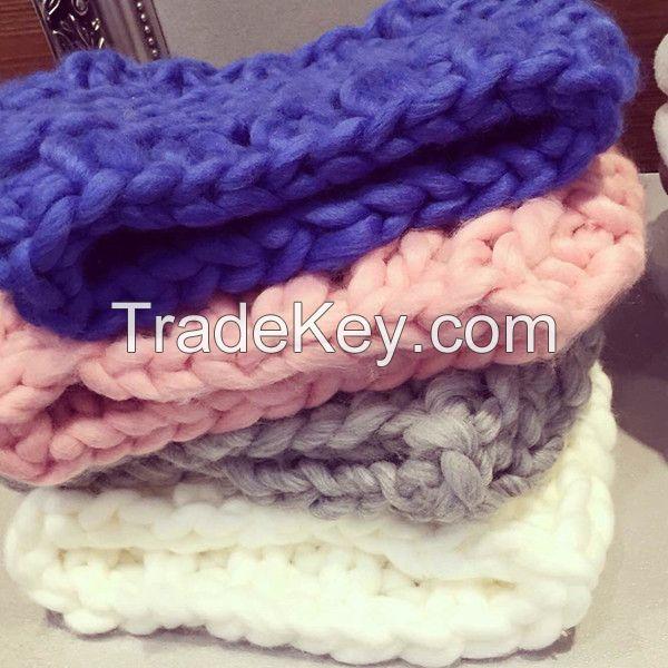 Korea super chunky iceland yarn acrylic blended yarn for scarf