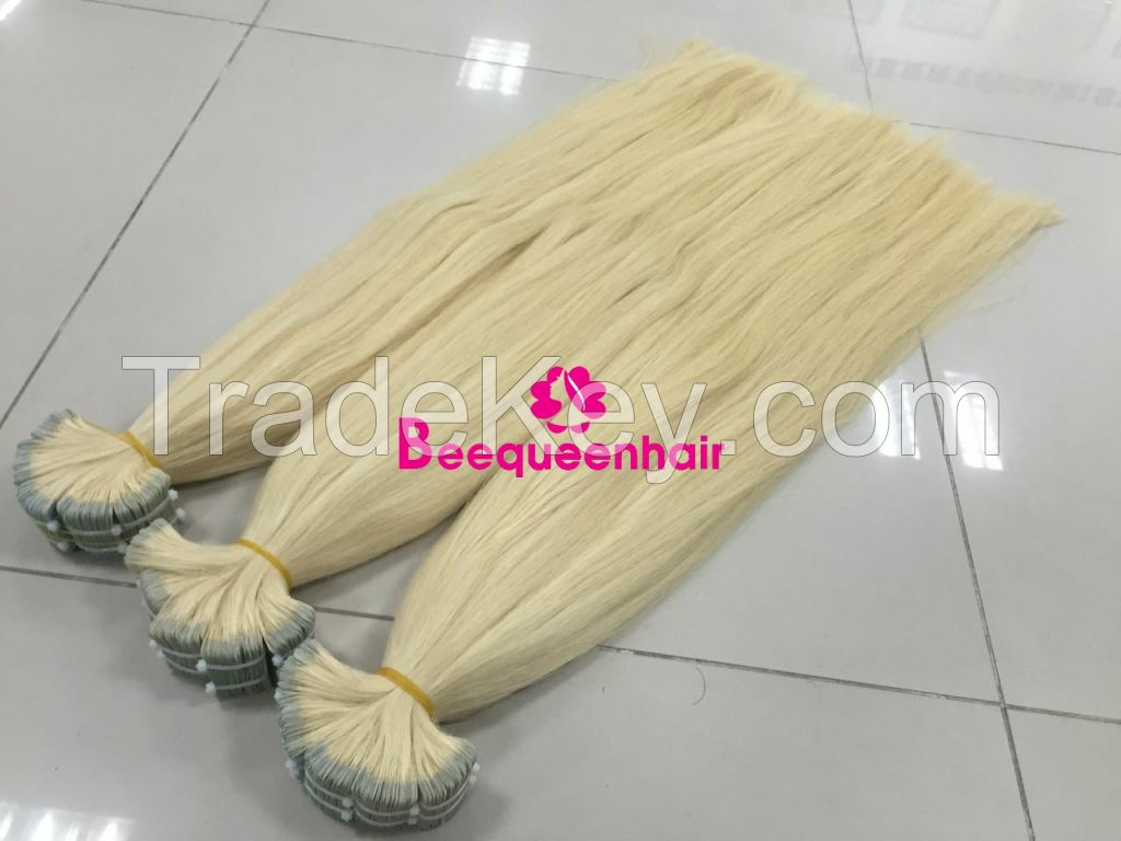 Beequeenhair tape in human hair extensions 26 INCHES