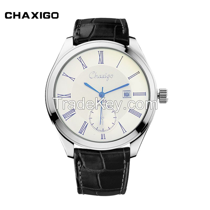 Rollex put your logo wrist watch Genuine Leather Strap clused Watch Alloy case custom designed watches