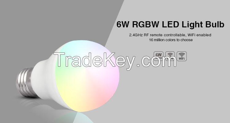 Hot Sales 6w E27 B22 RGBW color xchange smart led bulb
