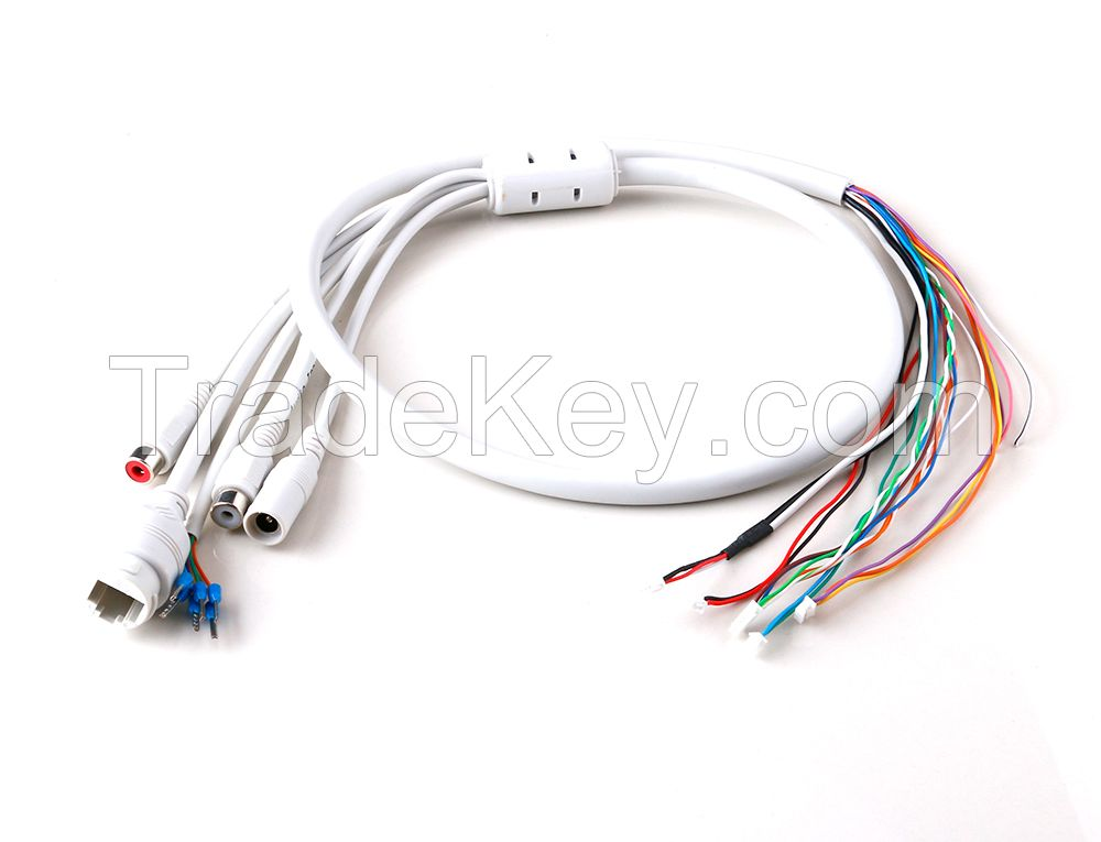 Waterproof RG45 Composite CCTV Cables for IP Camera