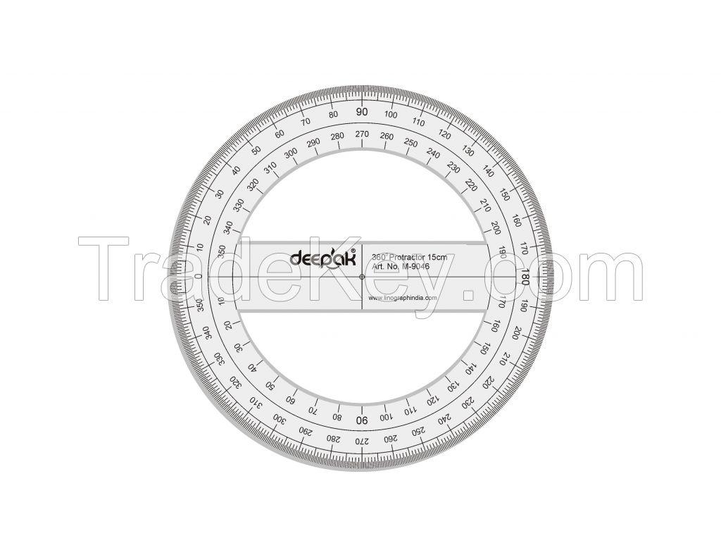 360 Degree Full Circle Protractor