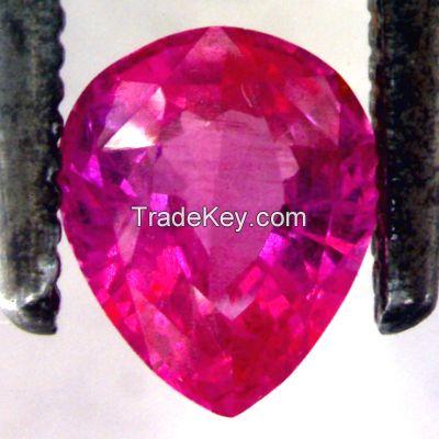 Cut/rough coloured gemstones