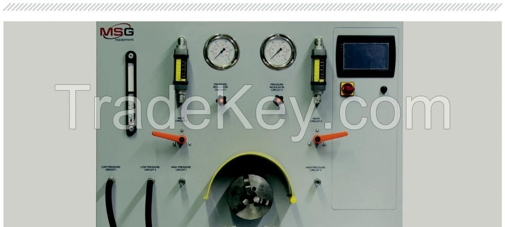 Test Bench MSG MS604 diagnostics of single-, double-circuit pumps before and after their renovation