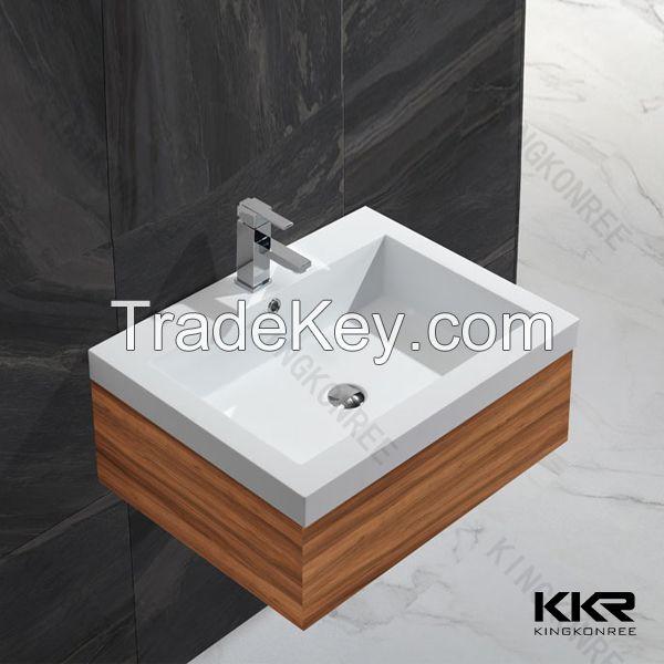Acrylic solid surface bathroom basin