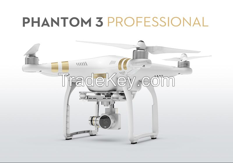 DJI Phantom 3 Professional video drone with camera quadcopter fpv remote control aerial rc hobby toy flight flying uav