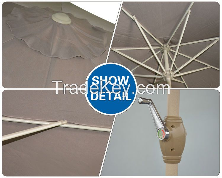 Zhejiang Anyuan Umbrella Outdoor Furniture General Use and Aluminum Pole Material patio umbrella