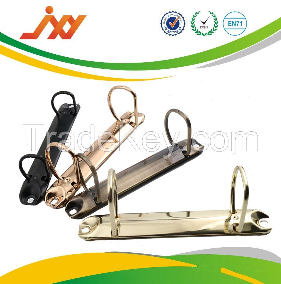 Factory supplies round ring metal 2 ring binder file clip / ring binder folder clip / stationary file clip